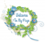 Welcome to my page, WREATH, BLUE, TEXT