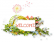 WELCOME NATURE, DANDELION, TEXT