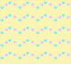 YELLOW BACKGROUND WITH TURQUOISE & PURPLE SPIRALS