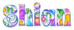 SHIAN, NEON, FLOWERS, TEXT