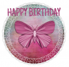 HAPPY BIRTHDAY, BUTTERFLY, CIRCLE, TEXT