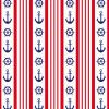 Red Striped Nautical Background