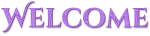 WELCOME, LAVENDER, DESIGNS, TEXT