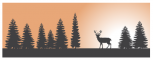 FOREST BANNER WITH DEER WALKING
