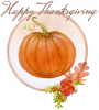 Happy Thanksgiving, PUMPKIN, HOLIDAYS, TEXT