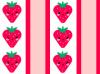 kawaii strawberry striped background
