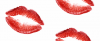lipstick kisses seamless background