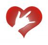 DEAF ASL ILY (I LOVE YOU) HAND BACKGROUND