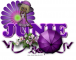 Junie - Purple Flower - Umbrella