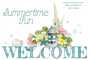 WELCOME.. SUMMERTIME FUN, LIGHTHOUSE, TEXT