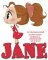 JANE, TOONS, CUTE, GIRL, TEXT